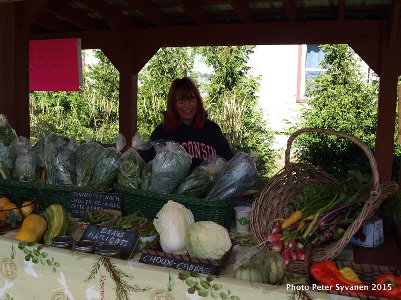 marché fermier potton comptoir légumes